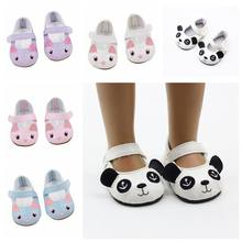 1Pair PU Leather Shoes For Fit 18 inch Girl Doll Shoes As For 43cm Born Babe Doll Accessories Toy Girl Gift Dress Up Toys(China)