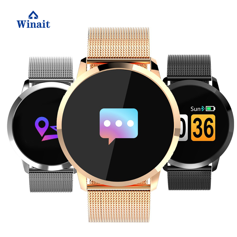 winait q8 smart watch waterproof round smartwatch with 0. Black Bedroom Furniture Sets. Home Design Ideas