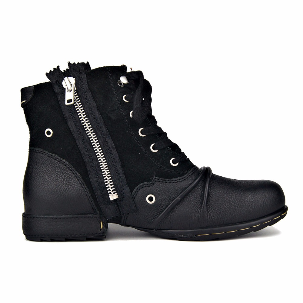 OTTO ZONE Men Boot Genuine Leather Men Shoes Handmade Ankle Boots Superstar Boots Classic Outdoor Winter Shoes Brand Shoes Boot - 2