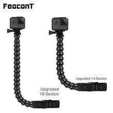 Feocont GoPro Kẹp Có Thể Điều Chỉnh Cổ Ngỗng Cổ Giá Đỡ Cho GoPro 7 6 Phụ Kiện Flex Clamp Mount Cho Go Pro Hero 5 4 Xiaomi Yi 4