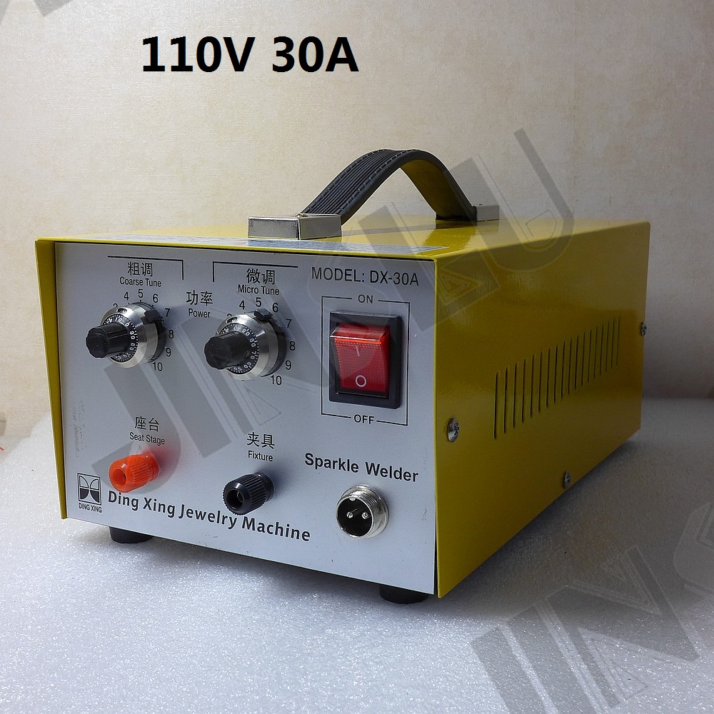 110V 30A Mini Spot Welder Laser Spot Welding Machine Jewelry Tool DX-30A welding machine parts цены