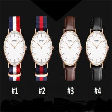 Skmei Seconds Dial Nylon Watch Fashion Stainless Steel Buckle Quartz Time Leather