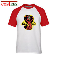 2018 Nieuwste Ontwerp Rode Cobra Kai T-shirt Mannen Karate T-shirt Koele Zwarte Mamba Apparel Fashion Cosplay Jurk Kobe Tee bryant Shirt(China)