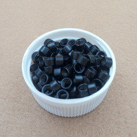 10000pcs 4 5 Mm Hair Extension Micro Links Beads Links With Screws 1 Black
