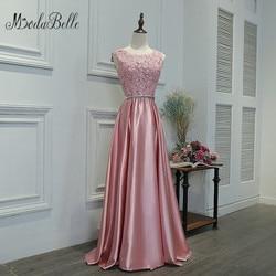 Modabelle 2017 dusty rosa vestidos de dama de honra demoiselle dhonhonneur longo vestido de festa de casamento para dama de honra rendas vestidos de baile