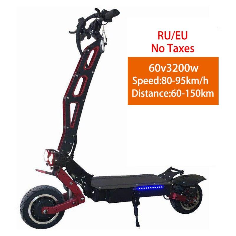 DemüTigen Hohe Geschwindigkeit Elektrische Roller 60 V 3200 W Skateboard Longboard Erwachsene Elektrische Roller Elektrische Faltbare Professionelle Roller Elektro-scooter