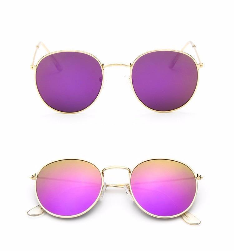 Luxury Brand Design Round Aviator Sunglasses Women Retro Brand Sun Glasses For Women Female Lady Sunglass Driving Mirror Glasses (12)