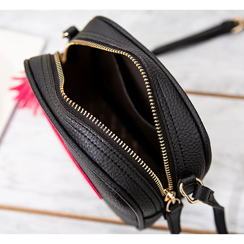 New Fashion Designer Women Messenger Bags Mini Tassel Shoulder bag Pu Leather Love Flap bolsa feminina in Shoulder Bags from Luggage Bags