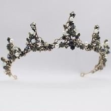hot deal buy handmade vintage baroque crystal bridal tiara headbands bride crown for women/girl prom headpiece wedding hair jewelry accessory
