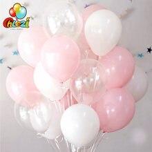 30 pçs 2.3g rosa branco 2.8g transparente látex balões de hélio feliz aniversário fontes da festa de casamento do chuveiro do bebê decoração ballons
