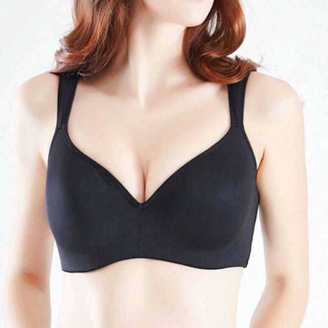 Plus Size Bras Women Underwear Underwire Push Up Bra Solid Brassiere Lingerie BH 36-48  A B C D DD E