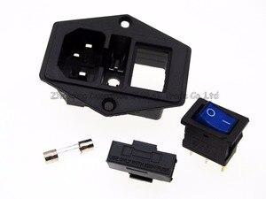 Image 4 - 3 in 1 tuimelschakelaar met licht Blauw, AC 01A zekering stopcontact Plug 3 Pin 15A 250 V met Zekering Blok + 10A Zekering
