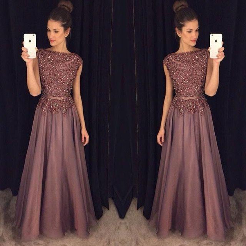 Aliexpress.com : Buy Vintage Long Evening Dresses 2016 A Line ...