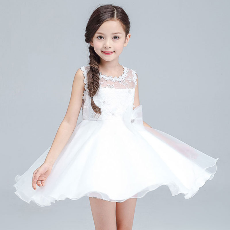 2017 Kids Summer Toddler Girl Dresses Wedding and Party Baby Clothes Princess Kids Dresses for Girl Vestidos Infantil Dress 9 14 цена