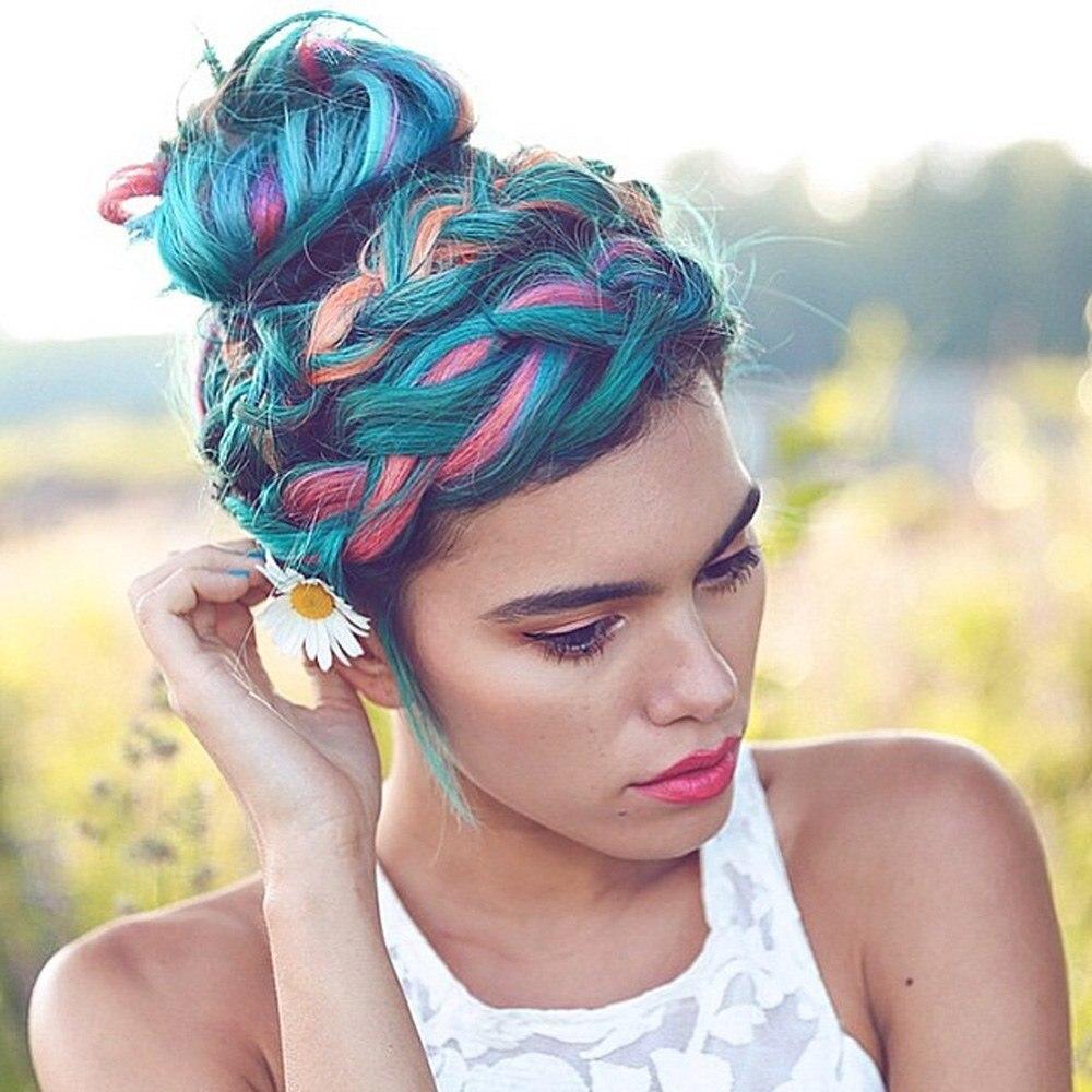 Unisex Temporäre Farbstoff Haar Wachs Farbe Temporäre Haar Farbe Hairing Styling Farbe Schlamm Ein-zeit Form Paste 8 Farben machen Up