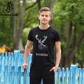 Pioneer camp 2017 nueva moda masculina camiseta masculina camiseta de algodón marca corta de los hombres de verano camiseta 3d alces impresa camiseta de los hombres 677050