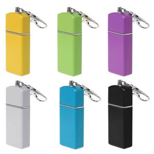 Image 1 - New Design Portable Mini Pocket Ashtray Windproof Cases Key chain Outdoor Smoking Accessory For Sale
