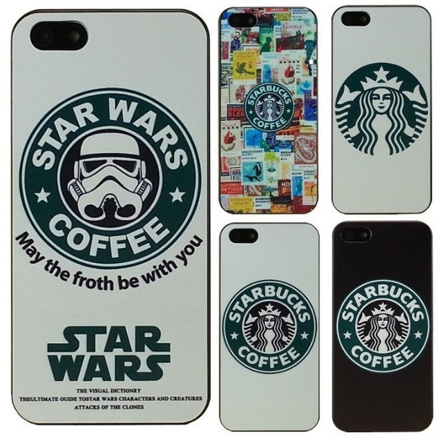 bcc5700f50b Hot Star Wars Coffee Design Phone case for iPhone 4 4S 5 5s 5c SE 6 ...