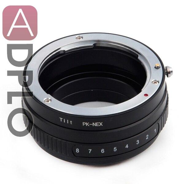 Tilt Lentille Adaptateur Costume Pour Pentax PK Lens pour Costume pour Sony Monture E NEX Caméra