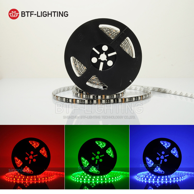 5M 5050 SMD RGB Flexible LED Strip Light 60LEDs/M 5050 waterproof IP65/non waterproof IP30 Black/White PCB DC12V недорого
