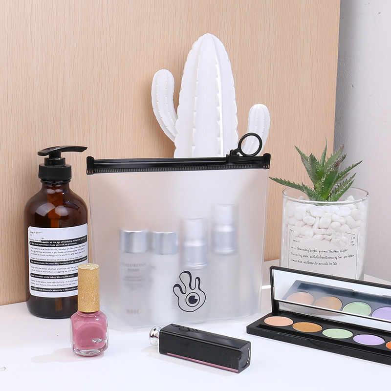 ETya Mädchen Transparent PVC Kosmetik Tasche Wasserdicht Frauen Reise Klar Neceser Kosmetikerin Make-Up Tasche Kultur Wash Pouch Fall