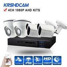 CCTV system 4CH Full HD 1080P AHD video recorder AHD-H 2.0mp 1080P SONY323 CCTV security camera System surveillance night Vision