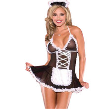 ladysexy teddy lingerie set women maid erotic lingerie sexy uniform underwear sex maid maid cosplay costumes body stockings