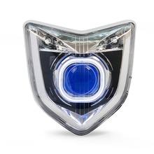 KT Scheinwerfer für Yamaha FZ1N 2006-2012 LED Angel Eye Blau dämon Auge Motorrad HID Projector Montage 2007 2008 2009 2010 2011