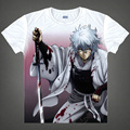 Gintama T-shirts kawaii Japanese Anime t shirt Manga Shirt Cute Cartoon Silver Soul Gin Tama Cosplay shirts 40244441291 tee 350