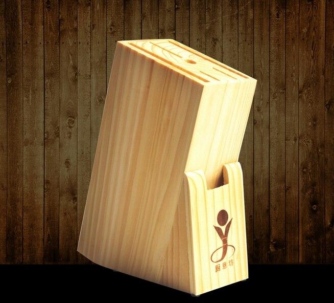 Creative Kitchen Tools Nature Wood Knife Holder Multi-function Knife Storage Racks Free Shipping