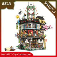 Bela 10727 Ninja Series 5041pcs Great Creator City Construction Building Blocks DIY Toys Interesting Kids Gifts Compatible 70620