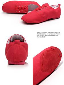 Jazz Shoes Sport-Sneakers Gymnastics Soft-Cloth Dance White Children Women Black