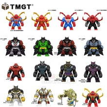 Big Size Iron Man Bricks Spider man Crocodile Ant-man Batman Black panther Building Blocks toys for children Avengers Endgame(China)