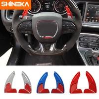 SHINEKA Interior Mouldings For Dodge Challenger 2015+ Car Interior Steering Wheel Shift Paddles Accessories For Dodge Challenger