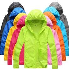 Складные быстросохнущие туристические куртки летняя ветровка водонепроницаемая ветрозащитная Солнцезащитная тонкая походная куртка с капюшоном