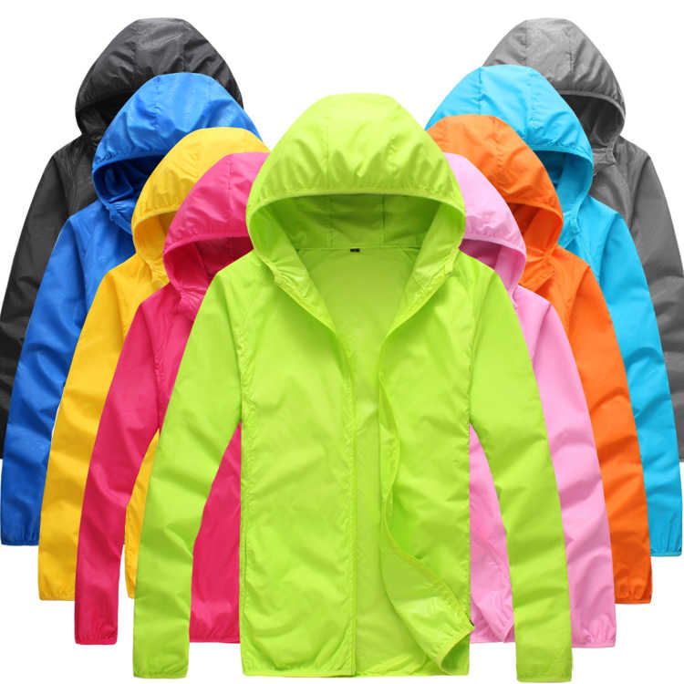 a85e09531aee Foldable Quick Dry Outdoor Camping Jackets Summer Windbreaker Waterproof  Windproof Sun-protection Thin Hiking Hooded