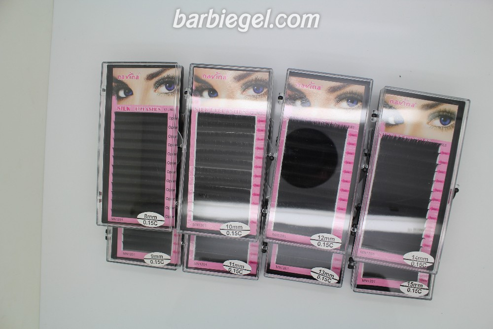 Navina 1000 cases/Lot C Curve 8/9/10/11/12/13/14/15mm Silk False Eyelash Extension Artificial Fake Eye Lashes Makeup Eyelashes