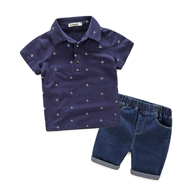 Hot Sale New Fashion Kids Clothes Boys Summer Set Print Shirt + Short Pants Baby Boy Clothing Set Toddler Boy Clothes Set