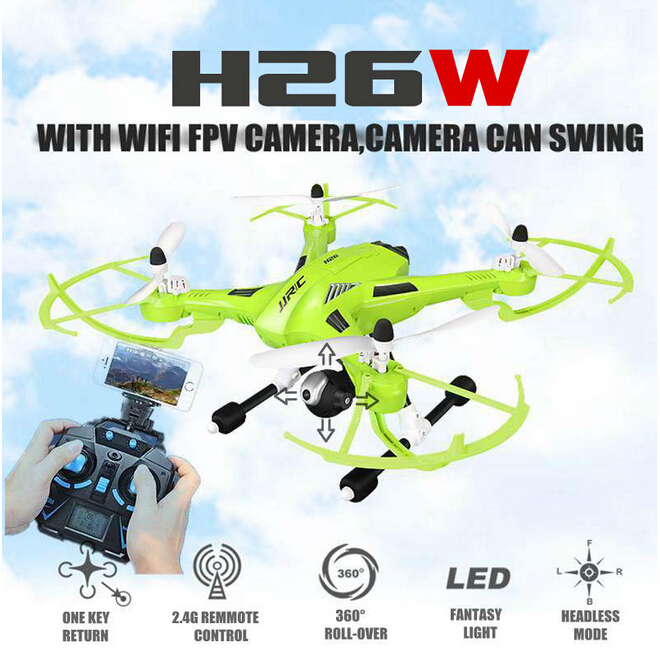 New Original JJRC H26W 2.4G 4CH 6 Axis Gyro RC Wifi FPV Quadcopter Real-time Transmission Drone with 2.0MP HD Camera VS X400-V2 rc drone u818a updated version dron jjrc u819a remote control helicopter quadcopter 6 axis gyro wifi fpv hd camera vs x400 x5sw