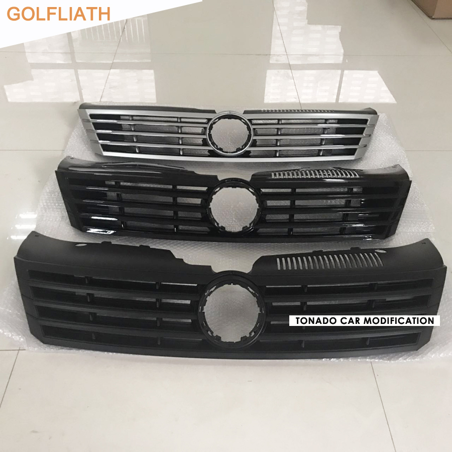 GOLFLIATH black/silver car center grille front bumper Honey Mesh grill radiator grills for Volkswagen/ VW Passat CC 2013-2017 racing grills version aluminum alloy car styling refit grille air intake grid radiator grill for kla k5 2012 14