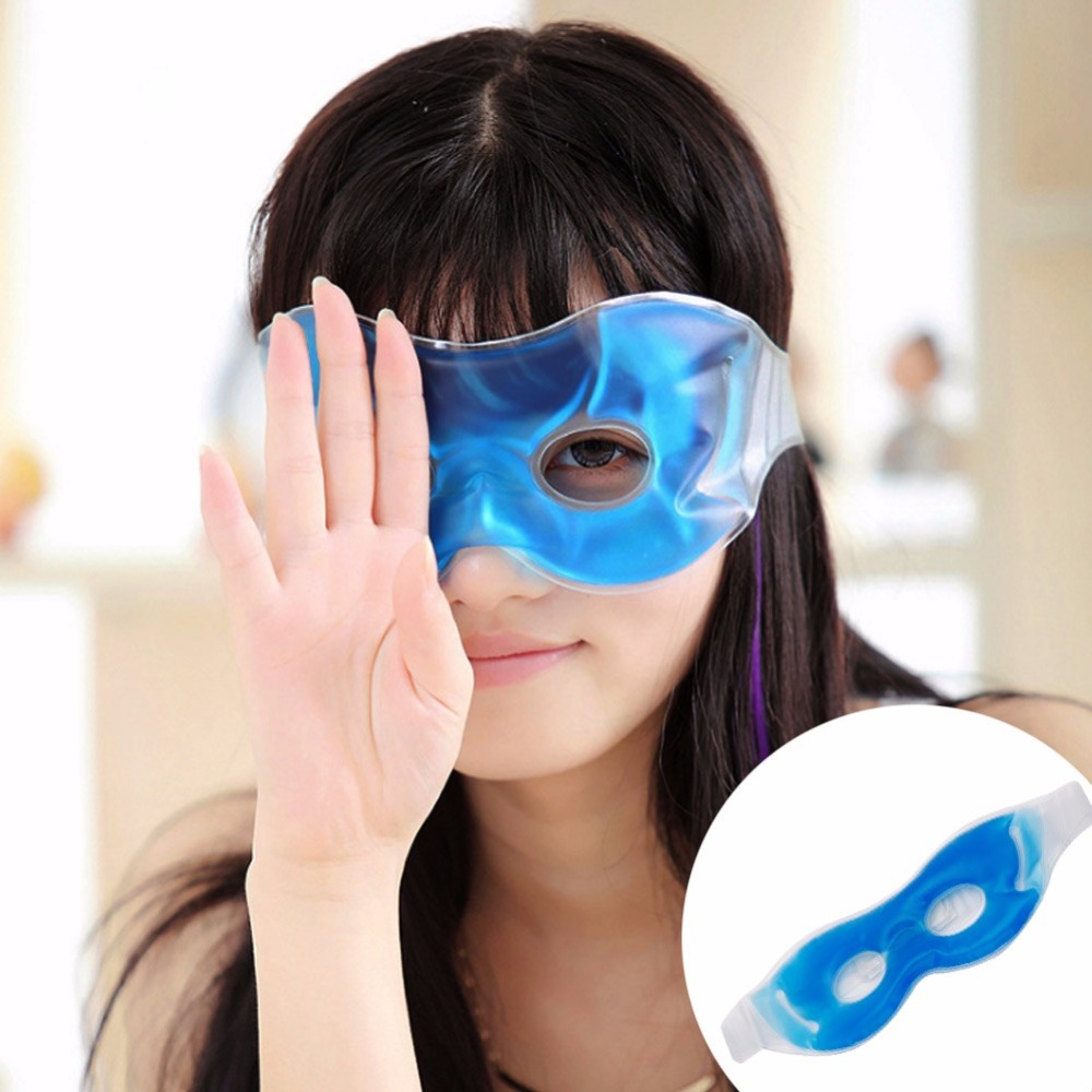 Free Shipping 1PC Cold Cooling Gel Ice Eye Care Mask Stress Relaxing Relief Sleeping Blindfold #E207Y# Hot Sale