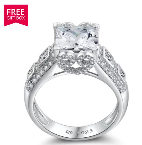 Love You Forever Engagement Wedding Ring Silver