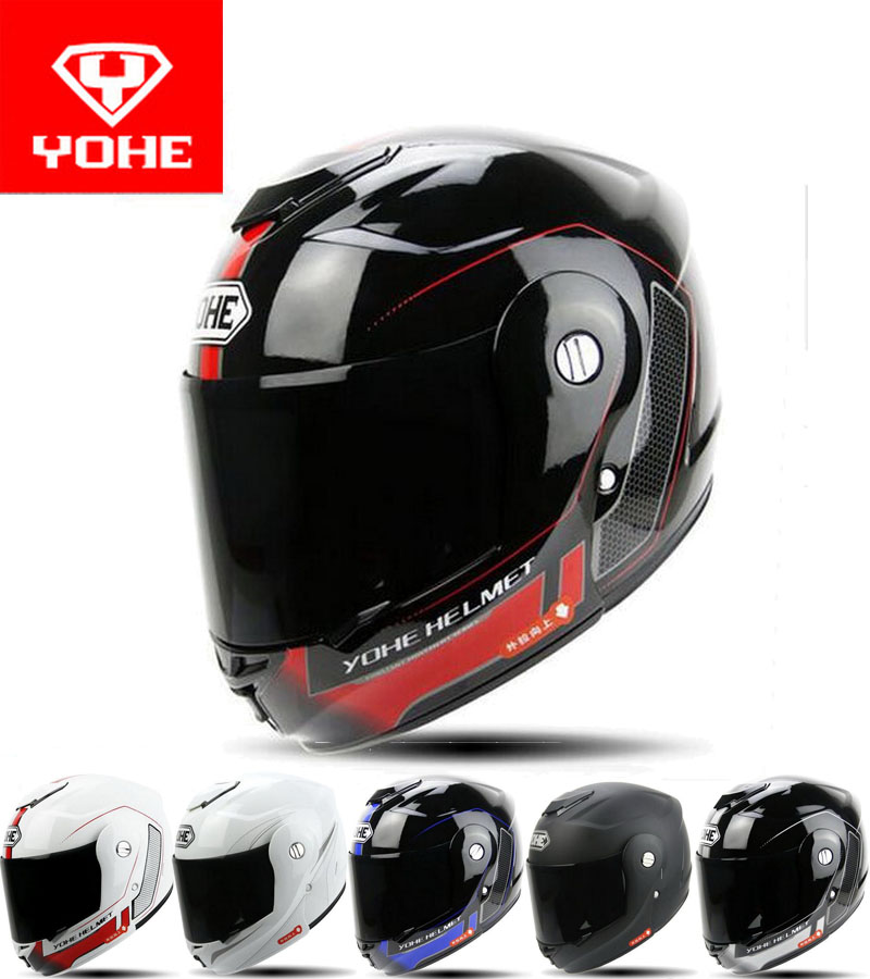 2017 New YOHE undrape face motorcycle helmet Open Face motorbike helmets ABS knight moto Flip Up helmets black lens visor YH-973