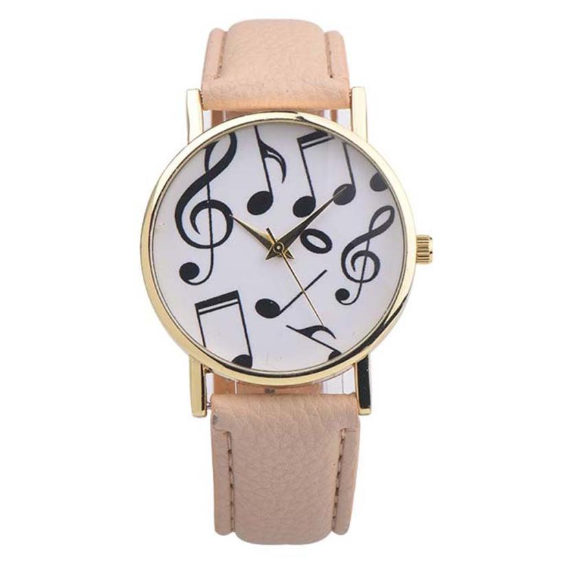 Relogio Feminino Dropshipping Gift Women Watches New Casual Musical Notes Men Leather Band Analog Quartz Dial Wrist Watch july28 hot new fashion quartz watch women gift rainbow design leather band analog alloy quartz wrist watch clock relogio feminino