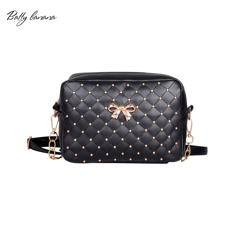 BATTY BANANA  2017 Fashion Women Bag Solid Crossbody Bags For Women Rivet Chains Women Messenger Bags Soft Bags For Women 2017 mark batty publisher lifestyle