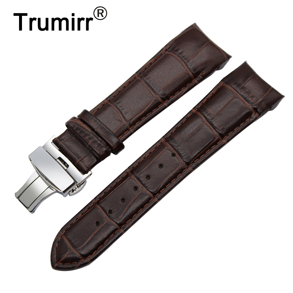 Calf Genuine Leather Watchband Arc Strap for Tissot 1853 T035 Watch Band Buterfly Buckle Strap Wrist Bracelet 22mm 23mm 24mm silicone rubber watch band 23mm 24mm for tissot 1853 t035 stainless steel safety buckle strap wrist belt bracelet spring bar