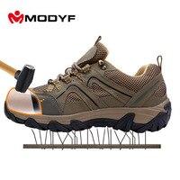 MODYF открытый тапки для Для мужчин Сталь носком Кепки безопасная обувь проколов нескользящая обувь