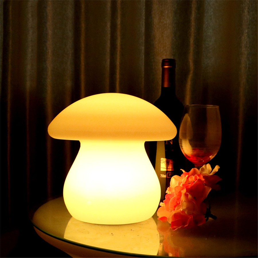 Led night light south africa - Thrisdar 7color Rechargeable Mushroom Led Night Light Led Illuminated Furniture Bar Table Lamp With Remote Controller