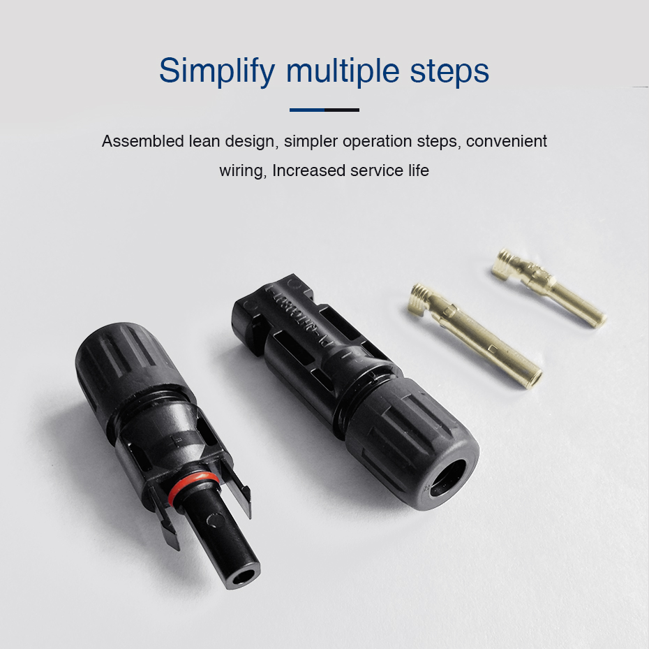 EASUN POWER 10 Pairs X MC4 Connector Male Female Solar Connector MC4 Solar Panel Branch Series Connect For Solar Power System_12