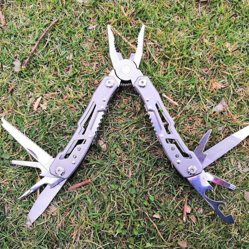 Daicamping Outdoor Silber Schwarz Edelstahl Lange Nase Multi Zangen Multi Faltende Messer Zange Werkzeug Mit Dem Besten Service Handwerkzeuge